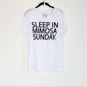🆕 Chaser Mimosa Sunday Vintage Jersey White Tee